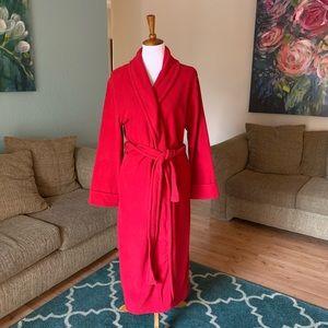 Charter Club full length fleece robe with pockets